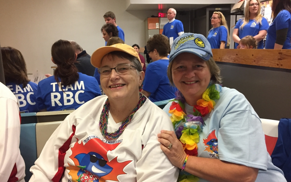 Barb & Cathy @ Bowling 4 Big Borthers-Sisters